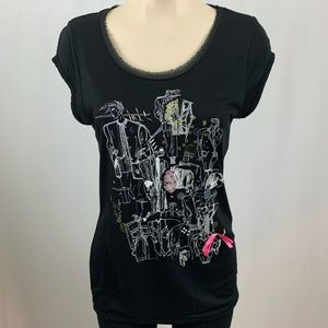 Escada Sport Short Sleeve Graphic T-Shirt M